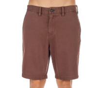 New Order Wave Wash Shorts rust brown