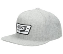 Full Patch Snapback Cap heather grey