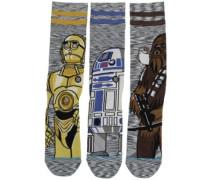 Sw Sidekick 3 Pack Star Wars Socks multi