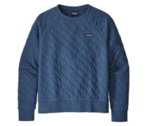 Cotton Quilt Crew Sweater stone blue