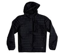Scaly Hooded Stretch Jacket black