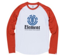Vertical Raglan QTR T-Shirt LS optic white