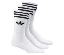 Solid Crew 3 Socks black