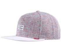 Colored Linen Snapback Cap blue