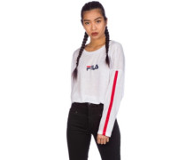 Jessica Cropped Crew T-Shirt LS bright white