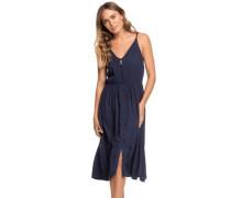 Sunset Beauty Solid Dress mood indigo