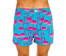 Flamingo Boxershorts turquoise