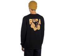 Panther N Roses Crew Sweater black