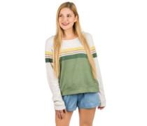 Heather Crew Sweater green aop