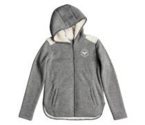 Super Cosy Fleece A Zip Hoodie charcoal heather