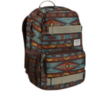 Treble Yell Backpack painted ikat print