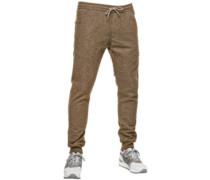 Reflex Rib Jogging Pants wool brown