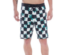 Mixed Scallop Boardshorts peace checker