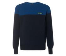 Bicolor Crew Neck Pullover foggy blue