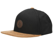 Quarter Fabric Cap new black