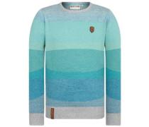 Analverkehr Nicht Schwer Pullover grey blue melange striped