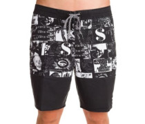 X Warholsurf Black And White Boardshorts black
