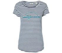 Stripe Script T-Shirt blue