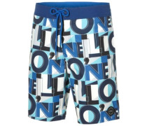 Long Freak Art Boardshorts blue aop
