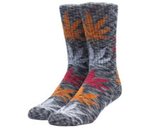 Full Melange Plantlife Socks black