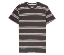 Die Cut Stripe Crew T-Shirt raven