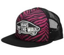 Beach Girl Trucker Cap magenta haze zebra