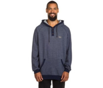 Hooded Stripe Fleece Hoodie mood indigo