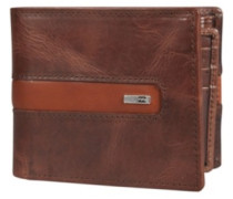D Bah Leather Wallet chocolate