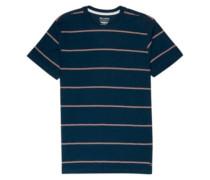 Die Cut Stripe Crew T-Shirt dark blue