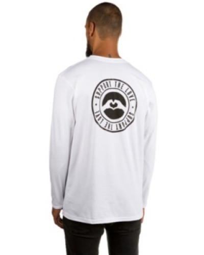 Stamped Hip T-Shirt LS white