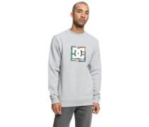 Camo Boxing Crew Sweater grey heather