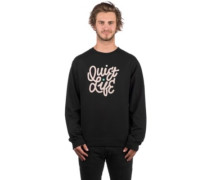 Aussie Script Crewneck Sweater black