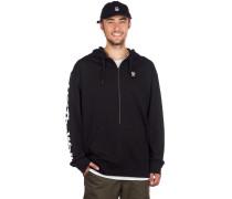 Distorted Oversized Half Zip Sweater black