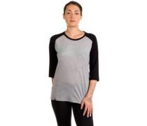 Merino Phoenix 3/4 Raglan Box T-Shirt LS grey marl