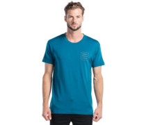 Primo Square T-Shirt blue steel