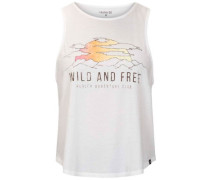 Wild And Free Flouncy Tank Top white