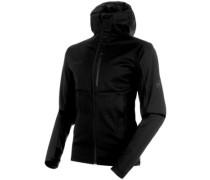 Ultimate V Hooded Softshell black-black