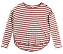 Curious Direction T-Shirt LS whitered rose big simple