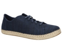 Lena Sneakers Women navy slubby cotton