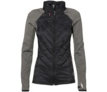 Hooded Baffle Fleece Jacket black out