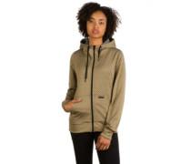 Stone Dot Fleece Jacket moss