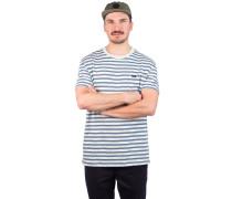 Vincent Stripe Crew T-Shirt silver bleach