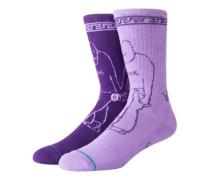X DLXSF Love Hate Socks purple