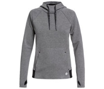 By Here By Now Fleece Hoodie charcoal heather