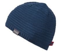 Striped Beanie steelblue