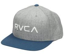 Twill Snapback Cap grey blue