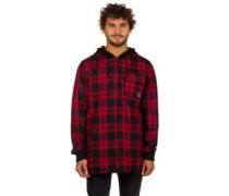 Backwoods Fleece Jacket mod buffalo plaid chili p