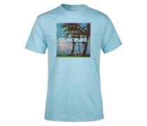 Postcard Palms T-Shirt aqua snow