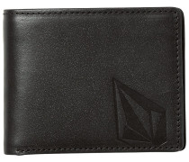 Straight Leather Wallet black