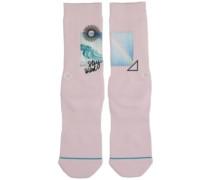 Stay Weird Socks pink